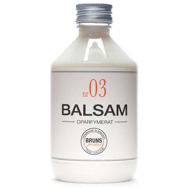 BRUNS Products Nr03 Unscented Balsam Hajusteeton hoitoaine 330 ml