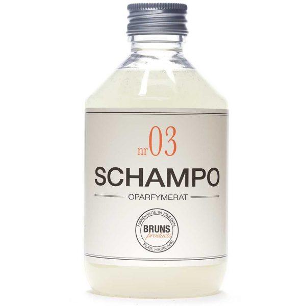 BRUNS Products Nr03 Unscented Schampo Hajusteeton shampoo 330 ml
